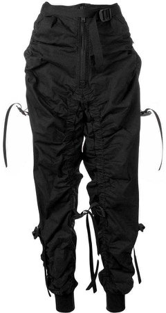 DSQUARED2 buckle and strap detail track pants