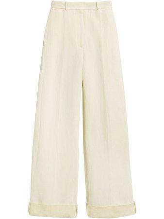 Burberry Pantalon Ample à Taille Haute - Farfetch