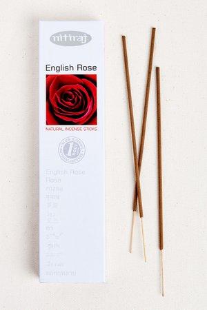 Nitiraj English Rose Incense Sticks 25g - Earthbound Trading Co. - Earthbound Trading Co.
