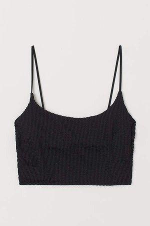 Long Bikini Top - Black