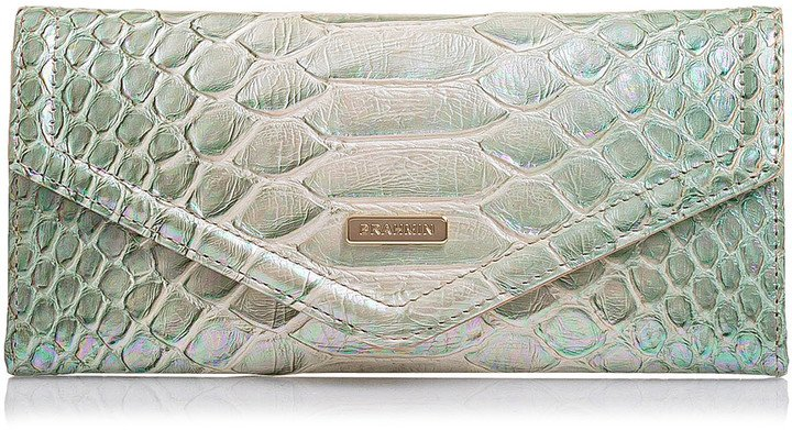 Veronica Croc Embossed Leather Wallet