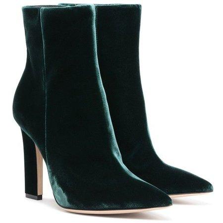 Green Velvet Boot