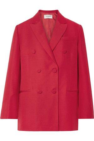 Valentino | Oversized silk and wool-blend crepe blazer | NET-A-PORTER.COM