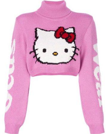hello kitty cropped sweater