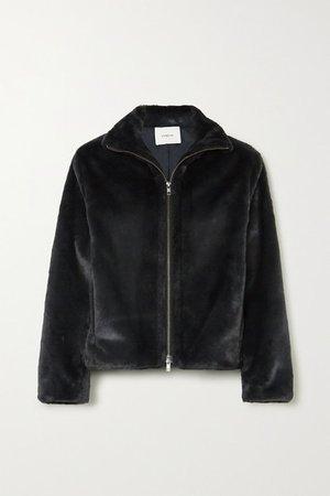 Faux Fur Jacket - Black