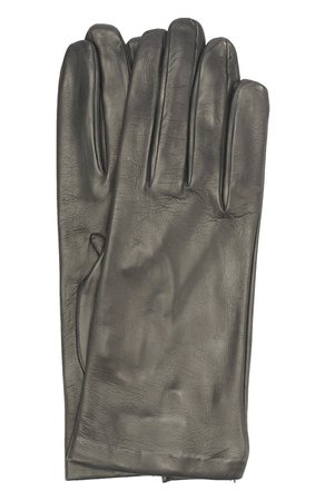 Женские темно-серые кожаные перчатки SERMONETA GLOVES — купить за 6545 руб. в интернет-магазине ЦУМ, арт. SG15/301/B 2BT