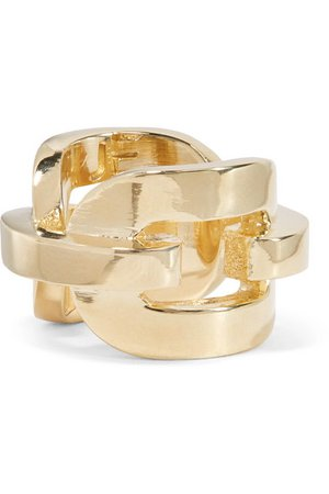 Jennifer Fisher   Chain Link gold-plated ring   NET-A-PORTER.COM