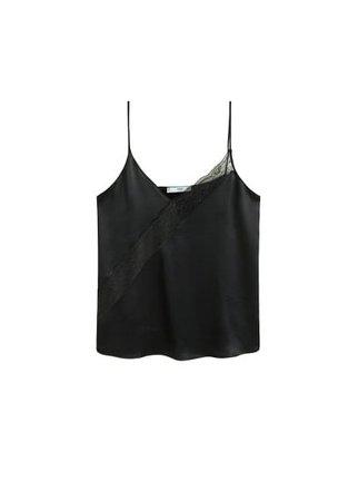 MANGO Lace panel top