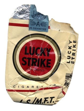 Empty cigarette pack