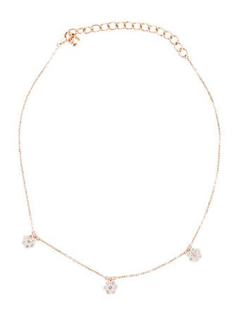 Necklace 14K Diamond Flower Choker Necklace - Necklaces - NECKL50914 | The RealReal