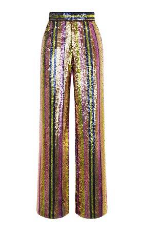Wide Leg Sequin Pants by Rasario | Moda Operandi