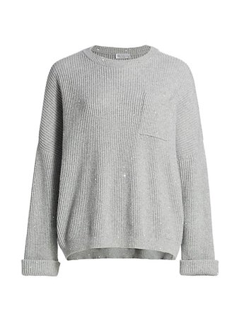 Brunello Cucinelli Cashmere & Wool Blend Sweater | SaksFifthAvenue