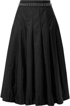 Moncler Genius - 6 Pleated Chain-embellished Shell Midi Skirt - Black