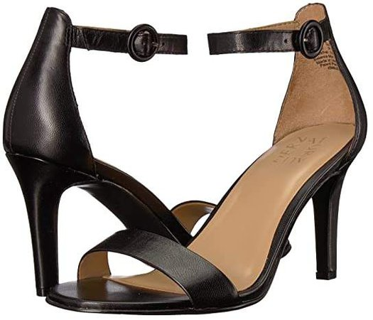 Kinsley (Black Leather) High Heels