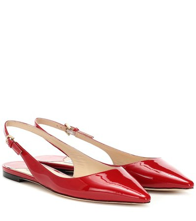 Erin leather slingback ballet flats