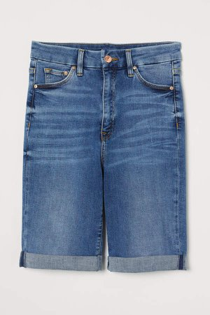 Embrace High Bermuda Shorts - Blue