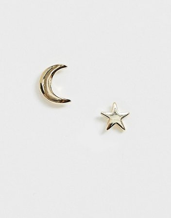Pieces moon and star stud earrings | ASOS