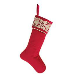 Quilted Velvet Stocking | Frontgate