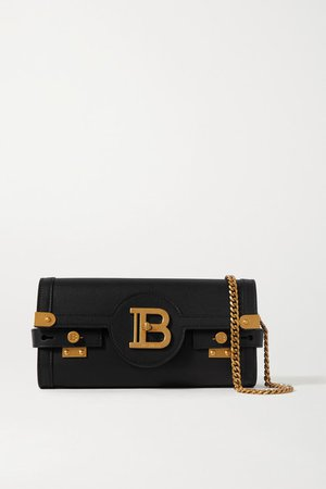B-buzz Leather Shoulder Bag - Black