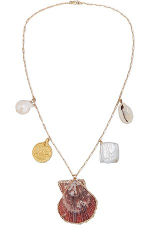 Eliou | Argos gold-filled, shell and pearl necklace | NET-A-PORTER.COM