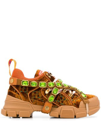 Gucci Embellished Flashtrack Sneakers