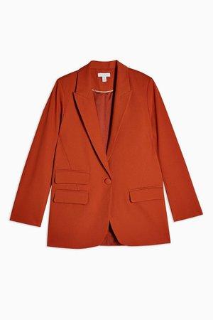Orange Single Breasted Blazer | Topshop