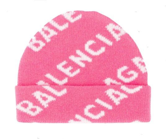 Balenciaga Pink Logo Beanie