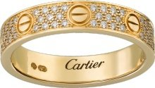 CRB4083300 - Alliance LOVE pavée - Or jaune, diamants - Cartier