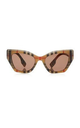 Vintage Check Butterfly Acetate Sunglasses by Burberry | Moda Operandi