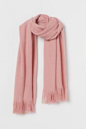Fringed scarf - Old rose - Ladies | H&M GB