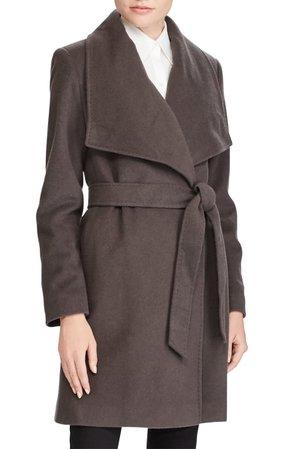 Lauren Ralph Lauren Cashmere & Wool Wrap Coat | Nordstrom