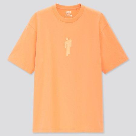 BILLIE EILISH UT (SHORT-SLEEVE OVERSIZED GRAPHIC T-SHIRT)   UNIQLO US orange