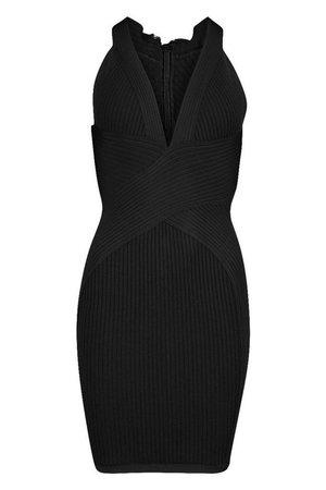 Boutique Bandage Cross Front Mini Dress | Boohoo