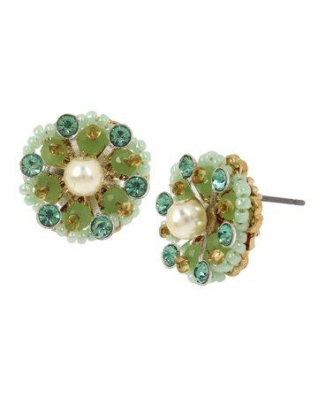 MIRIAM HASKELL New York Flower Stud Earrings & Reviews - Earrings - Jewelry & Watches - Macy's
