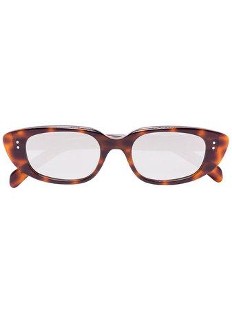 Celine Eyewear Armação De Óculos Gatinho Com Efeito Tartaruga - Farfetch