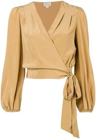 Eden wrap blouse