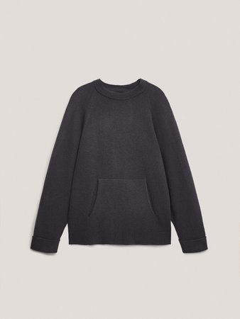 Oversize sweater with pocket - Women - Massimo Dutti