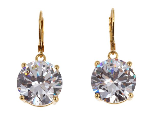 Betsey Johnson - Drop Crystal Earrings (Gold/Crystal) Earring