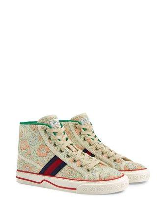 Gucci x Liberty London Tennis 1977 high-top Sneakers - Farfetch