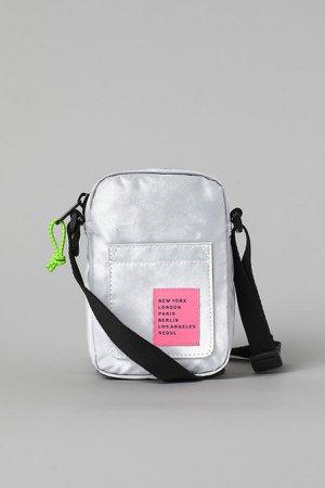 Reflective Shoulder Bag - Silver