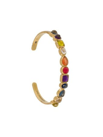 Shop gold Goossens mini cabochons bracelet with Express Delivery - Farfetch