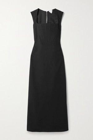 Stretch-cady Gown - Black