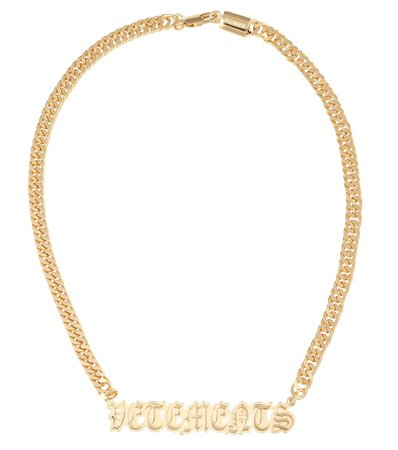 Vetements - Logo necklace   Mytheresa