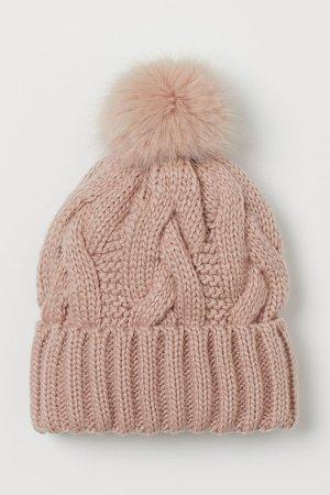 Knit Hat - Pink
