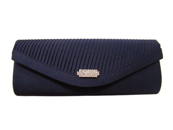 Blue Evening Bags - Navy Blue Evening Clutch Bag