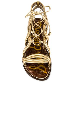 Sam Edelman Gasha Sandal in Molten Gold | REVOLVE