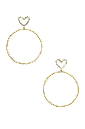 The Dotted Heart Hoop Earrings
