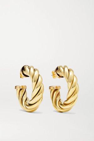 Gold Spira gold-tone hoop earrings | Laura Lombardi | NET-A-PORTER