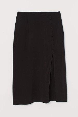 High-split Skirt - Black