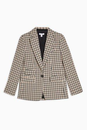 Check Single Breasted Blazer | Topshop